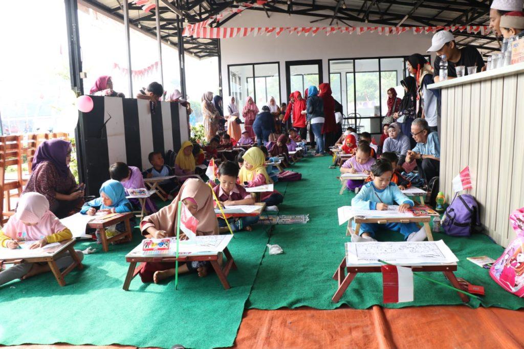 Pemuda Tigaraksa Gelar Lomba Mewarnai Badak Banten Untuk Anak Anak Sorot Desa